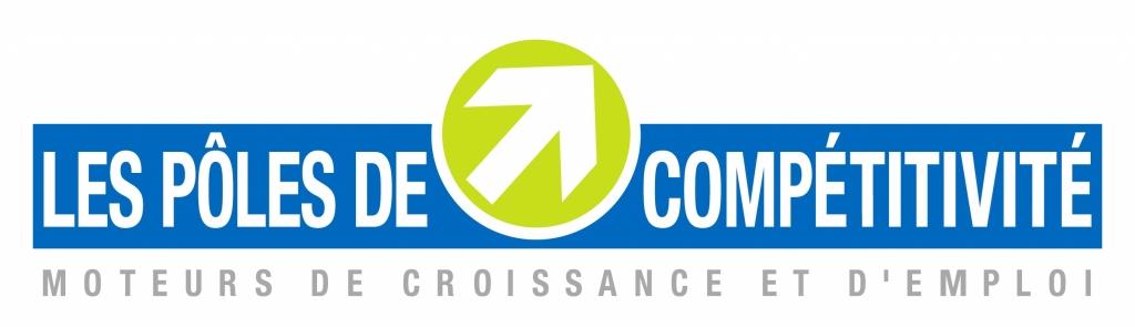"""Logo du label """"Les pôles de compétitivité, moteurs de croissance et d'emploi"""""""