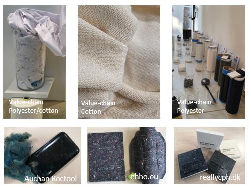 Photos RETEX des chaînes de valeurs de recyclages textiles