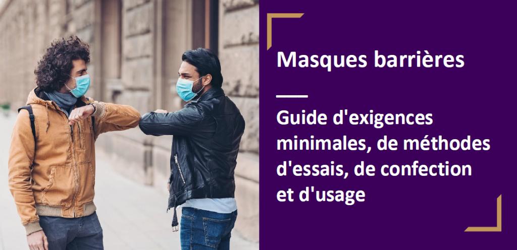 AFNOR - Guide masques barrières