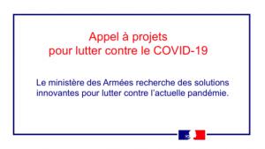 Appel à projets de solutions innovantes pour lutter contre le COVID-19
