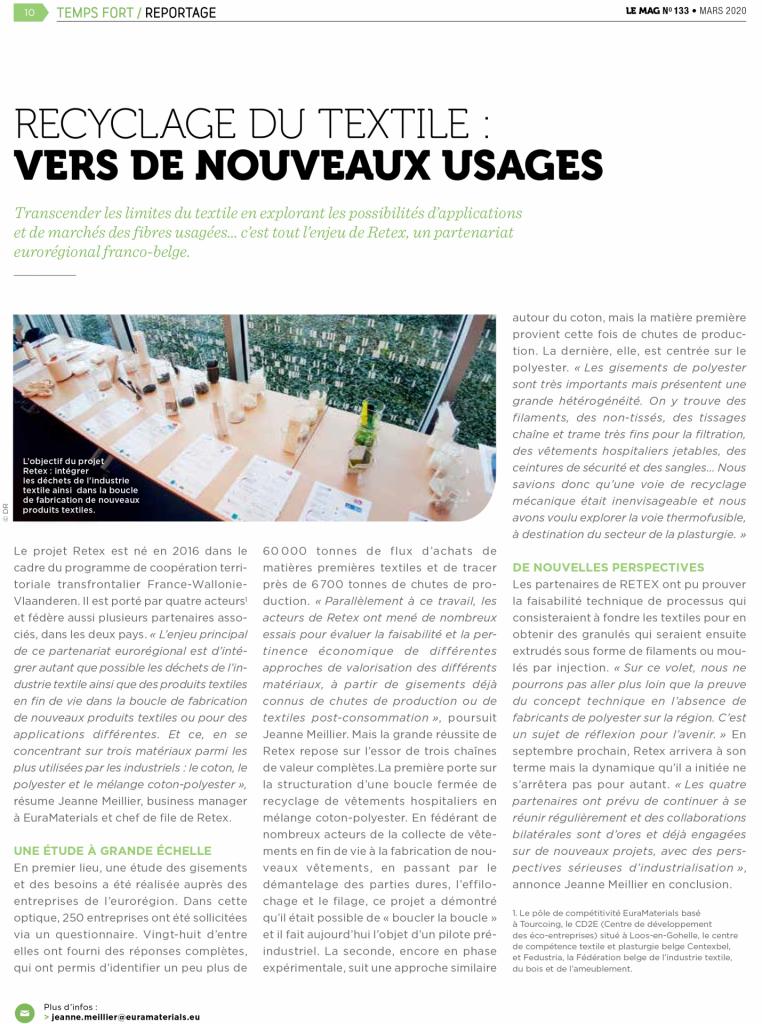 Le projet RETEX mis à l'honneur dans le magazine ADEME & Vous