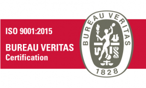 Logo Bureau Veritas de la certification ISO 9001:2015