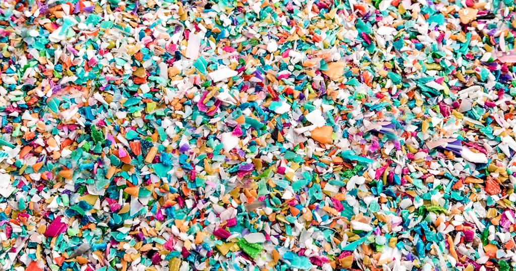 Copeaux de plastique recyclé