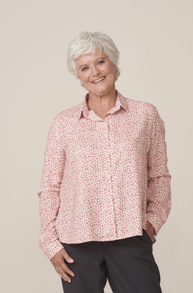 Chemisier Charlotte de forESTIME, l'élégance facile à enfiler - vêtements pour seniors