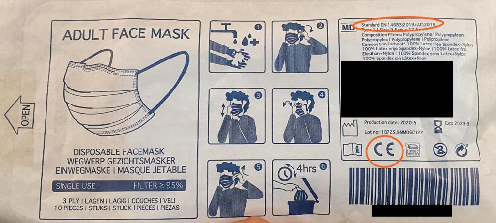 Ce qu'il faut vérifier sur l'emballage en achetant un masque anti-projections - EuraMaterials