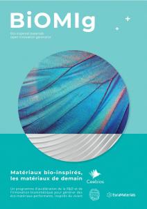 Couverture de la plaquette de présentation BiOMIg - matériaux bio-inspirés
