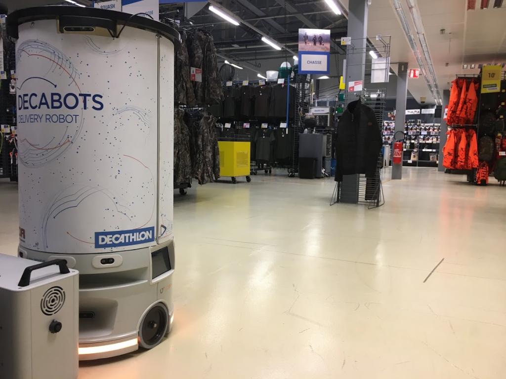 Le robot RM de TDR Groupe répond déjà à des applications industrielles innovantes, comme ici pour Decathlon